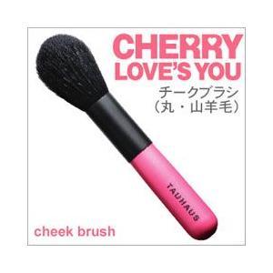 TAUHAUS メイクブラシ(化粧筆) CHERRY チークブラシ(丸) P-CK-20G-R /熊野筆|hokutoen