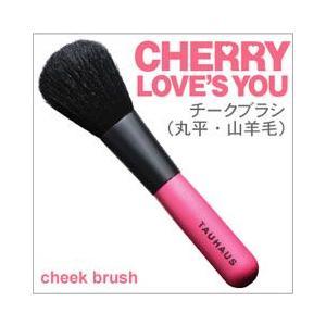 TAUHAUS メイクブラシ(化粧筆) CHERRY チークブラシ(平) P-CK-20G-RF /熊野筆|hokutoen