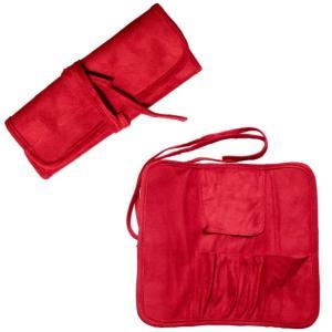 北斗園化粧筆(メイクブラシ) 化粧ポーチ・ケース(赤)/porch-red|hokutoen