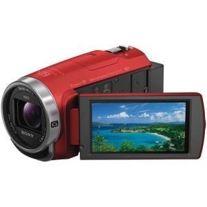 ソニー デジタルHDビデオカメラレコーダー レッド HDR-CX680-R 【カテゴリ】カメラ カメ...