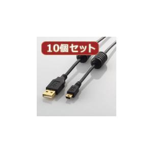ノイズに強いフェライトコア付き。パソコンやゲーム機に、USB(mini-Bタイプ)のインターフェイス...