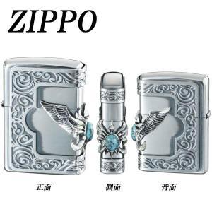 ZIPPO ストーンウイングメタル ターコイズ|hokutoku