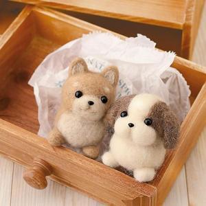 可愛いしば犬&シーズーが作れるフェルト羊毛キット。