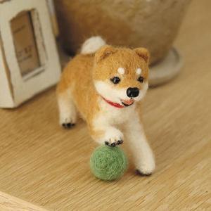 可愛い柴犬が作れるフェルト羊毛キット。