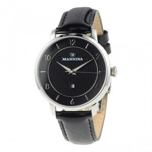 MANNINA(マンニーナ) 腕時計 MNN001-01 ブラック hokutoku