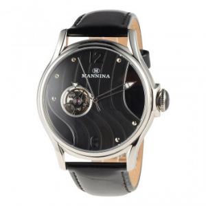 MANNINA(マンニーナ) 腕時計 MNN004-01 ブラック hokutoku