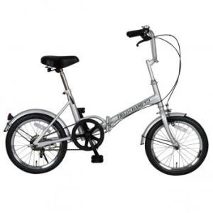 FIELD CHAMP 16インチ 折りたたみ自転車 CHAMP365 FDB16 シルバー No.72750 代引不可|hokutoku