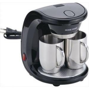 【商品名】 コーヒーメーカー 【ステンレス製マグカップ×2個付き】 16.5cm×18cm×22cm...