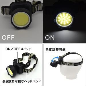 〔3個セット〕 アウトドアやキャンプなどに COB型 3W LEDヘッドライト hokutoku 02