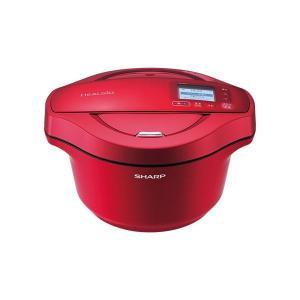 シャープ 水なし自動調理鍋 ヘルシオホットクック 無線LAN対応 レッド系|hokutoku|02