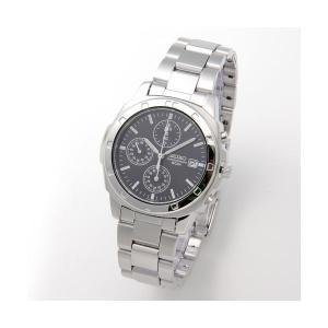 【商品名】 SEIKO(セイコー) 腕時計 クロノグラフ SND191P ブラック/バー
