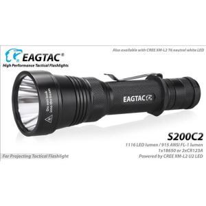Eagletac イーグルタック S200C2 NW Cree XM-L2 T6 Neutral White【 明るさMAX : 約1070 LED lumen /  使用電源:2xCR123A, 2xRCR123A, 1x18650 】 holkin