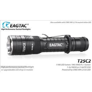 Eagletac T25C2 CREE XP-L HI V2 NW【CREE XP-L HI V2 Neutral White 昼白色LED搭載 / 明るさMAX : 1148 LED lume】イーグルタック 延長チューブ+フィルター付属 holkin