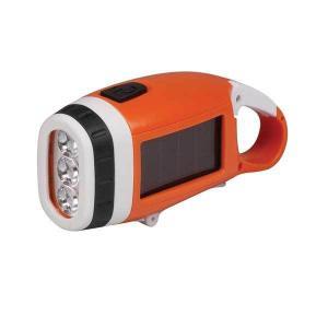 【太陽ソーラー電池+手押し充電機能搭載】 Energizer Solar LED Flashlight エナージャイザー ソーラーLEDライト : ELSOLOKCCBP|holkin