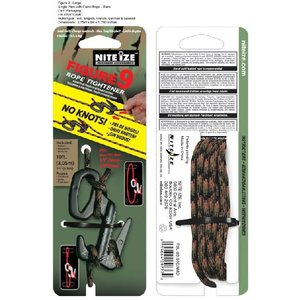 NITE-IZE Figure 9, Large, Single, Black w/Camo Rope : F9L-03-01C|holkin