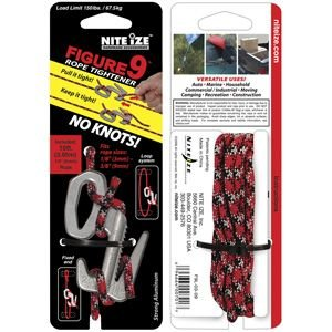 NITE-IZE Figure 9, Large, Rope Tensioner Tool, Single Pack with Rope : F9L-03-09|holkin