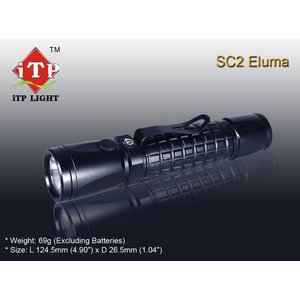 【CREE R5搭載モデル】 iTP SC2 Eluma R5 LED Flashlight  【CR123電池×2本使用モデル】 holkin