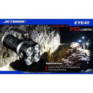JETBeam NITEYE EYE40 / Cree XM-L2 T6 LED 4灯搭載 【明るさMAX:3150ルーメン / 18650×4本】|holkin