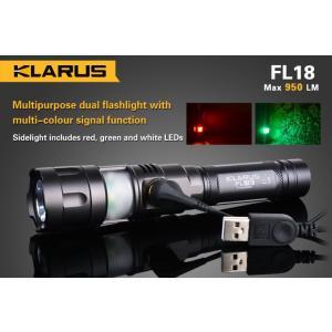 KLARUS クラルス FL18 【明るさ:950ルーメン / 使用電源 : CR123×2本 or 18650×1本】|holkin