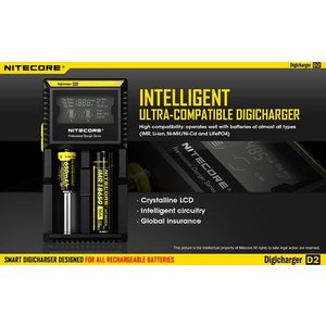 NITECORE D2 ナイトコア 全自動デジタル/マルチ充電器 Digicharger D2|holkin