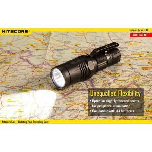 NITECORE EA11 【CREE XM-L2 U2 白色LED + 赤色LED 搭 / 明るさMAX:900ルーメン / 単3電池×1本 or 14500×1本】|holkin