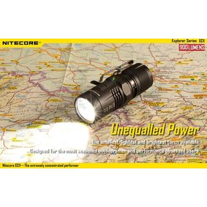 NITECORE EC11 【CREE XM-L2 U2 白色LED + 赤色LED搭載 / 明るさMAX:900ルーメン / CR123A×2本 or 18350×1本】|holkin