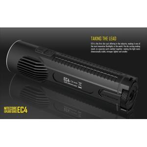 NITECORE EC4 【CREE XM-L2 U2 白色LED 搭載 / 明るさMAX:1000ルーメン】|holkin
