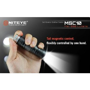 NITEYE MSC10 ナイトアイ【CREE XM-L U2 搭載 / CR123×1本使用 / 明るさMAX:280ルーメン】|holkin