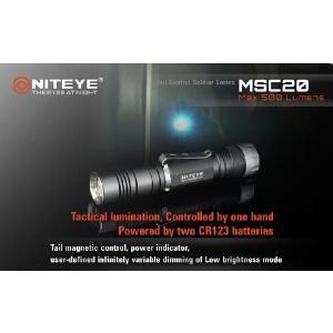 NITEYE MSC20 ナイトアイ【CREE XM-L U2 搭載 / CR123×2本使用 / 明るさMAX:500ルーメン】|holkin