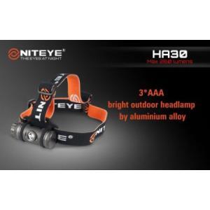NITEYE ナイトアイ HA30 LED HEADLAMP 【CREE G2 LED 搭載 / 単4×3本使用 / 明るさMAX:260ルーメン】|holkin