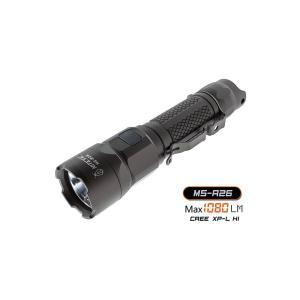 NITEYE MS-R26 充電式Rechargeable Military Flashlight 【CREE-XP-L HI LED搭載 / 明るさMAX:1080ルーメン】Max Beam Distance: 265m ナイトアイ|holkin