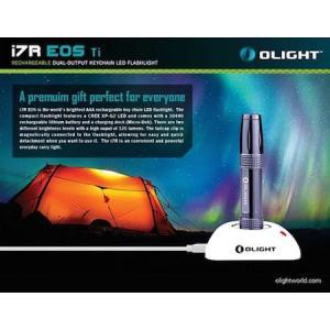 Olight i7R EOS Ti チタン製ボディ【Cree XP-G2 搭載 / 明るさ120ルーメン】キーチェーンライト USB充電ドック+10440充電式リチウム電池付属|holkin