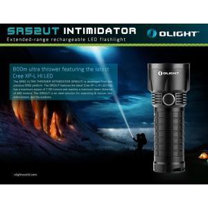 OLIGHT SR52-UT Intimidator【CREE XP-L HI 白色LED搭載 / 明るさ1100ルーメン / CR123,RCR123×6本 or 18650×3本】 ※電池は別売です。 holkin