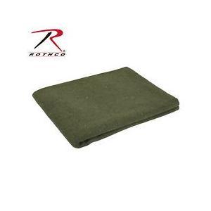 ROTHCO / ロスコ 10430 Olive オリーブ色 50% WOOL RESCUE BLANKET タオル / ブランケット|holkin