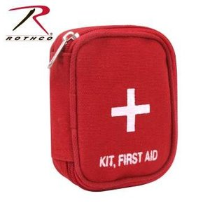 ROTHCO / ロスコ 8378 Military Zipper First Aid Kit Pouch - Red メディカルバック / 救急バック(救急箱)|holkin