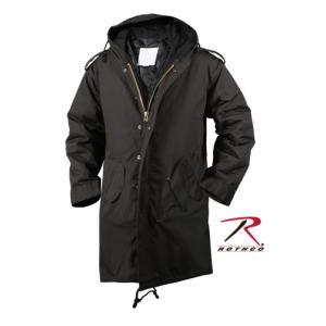ロスコ モッズコート M-51 フィールドパーカ ROTHCO / ロスコ 9464 M51 フィッシュテール モッズ コート ブラック :青島コート|holkin