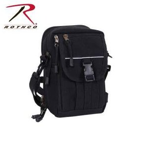 ROTHCO / ロスコ 99146 Heavyweight Canvas Classic Passport Travel Pouch【Black】 小型ショルダーポーチ:携帯電話収納部付|holkin