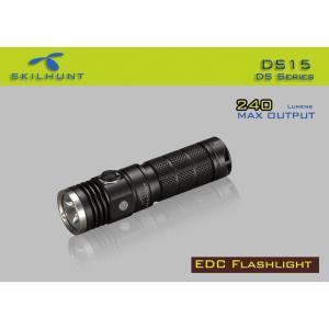 SKILHUNT DS15 EDC ポケットLEDライト 【CREE XM-L2 白色LED搭載 / 明るさ:240ルーメン / 使用電池:単3アルカリ電池 / 14500充電池 / エネループNiMH ×1本】|holkin