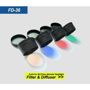 SKILHUNT Diffuser, FD-36 【36-37mm径用 / 赤色フィルター】 Red Filter|holkin