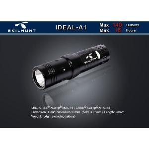 SKILHUNT IDEAL A1 【点灯方法:ヘッド部回転式/CREE XM-L T6搭載/単3アルカリ電池×1本使用】|holkin