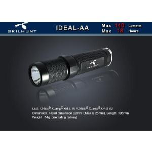 SKILHUNT IDEAL AA 【点灯方法:テール・プッシュボタン/CREE XM-L T6搭載/単3アルカリ電池×1本使用】|holkin