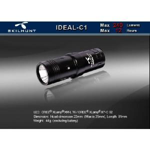 SKILHUNT IDEAL C1 【点灯方法:ヘッド部回転式/CREE XM-L T6搭載/CR123×1本使用】|holkin