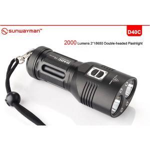 SUNWAYMAN D40C サンウェイマン 【CREE XM-L2 白色LEDx2灯 搭載 / 明るさMAX:2000ルーメン / CR123x4本 or 18650x2使用】|holkin