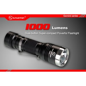 SUNWAYMAN G25C サンウェイマン 【CREE XM-L2 U2 白色LED搭載 / 明るさMAX:1000ルーメン / CR123A×2本 or 18650×1本】|holkin