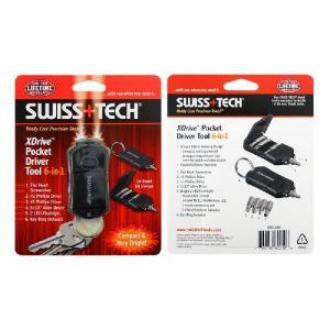 SwissTech XDrive Pocket Driver 6-in-1 : PDTCSBK スイステック Xドライブ ポケット・ドライバー : ST60210|holkin