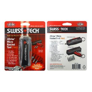 SwissTech XDrive Micro Ratchet Tool 7-in-1 : RDTCSBK スイステック Xドライブ マイクロ・ラチェツト・ツール : ST60250|holkin