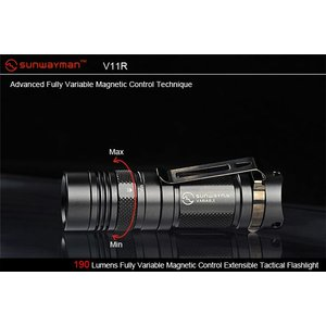 SUNWAYMAN V11R 【CREE XM-L U2 LED搭載/使用電源:CR123×1本】