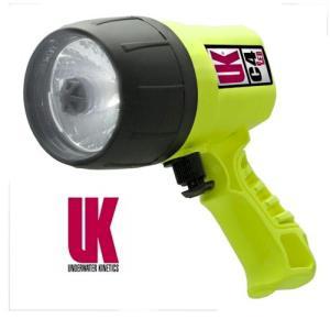 Underwater Kinetics C4 eLED, Pistol Grip, Yellow : UK19050|holkin
