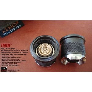 XENO TM10 V2 Tactical Twisty / Forward Switch,w / Momentry-On モーメンタリースイッチ テールキャップ・スイッチ holkin