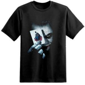 バットマン ダークナイト ジョーカーカード メンズTシャツ2  ヒースレジャー XL在庫有り!